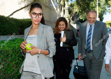 V. Stiviano, Mac Nehoray V. Stiviano, left, leaves Los Angeles Superior Court at the end of the day's testimony in the lawsuit brought against her by former Los Angeles Clippers basketball team owner Donald Sterling's estranged wife Shelly Sterling, . Stiviano's lawyer, Mac Nehoray, is at right. Jay Shapiro, an accountant who dug through the finances of billionaire Donald Sterling to track payments he made to Stiviano, ridiculed the woman's claim about the source of $1 million contribution she made to purchase her house