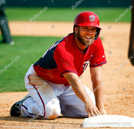 Cutter Dystra Washington Nationals' Cutter Dykstra reacts after being picked off first base in the eighth inning of an exhibition spring training baseball game against the Detroit Tigers, in Viera, Fla. The game ended in a scoreless tie