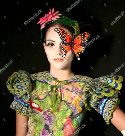 Stock Picture of Model Marina Jamieson preparing for the catwalk