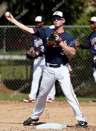 James Beresford Minnesota Twins infielder James Beresford throws to first during a practice at baseball spring training in Fort Myers, Fla