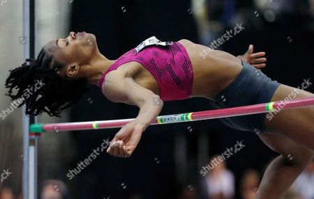 Chaunte Lowe Chaunte Lowe competes in the women's high jump during the U.S. indoor track and field championships in Boston