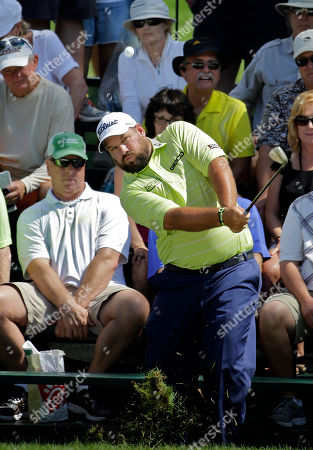 Brendon de Jonge Brendon de Jonge hits from in front of the grandstand on the third hole during the third round of the Valspar Championship golf tournament, at Innisbrook in Palm Harbor, Fla