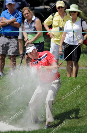 Jason Bohn Jason Bohn blasts from a sand trap on the first hole during the third round of the Valspar Championship golf tournament, at Innisbrook in Palm Harbor, Fla