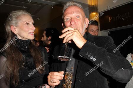 Eveline Hall and Jean Paul Gaultier