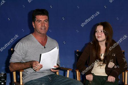 Stock Photo of Bianca Ryan and Simon Cowell