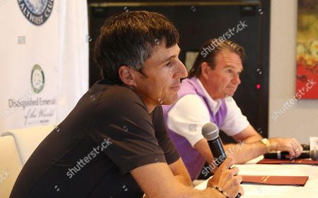 Jimmy Connors Aaron Krickstein, left, listens as Jimmy Connors talks to the media during a press conference in Boca Raton, Fla., . Connors changed tennis' country-club image, but he is back in a genteel, exclusive setting Tuesday for a private exhibition against Aaron Krickstein, his opponent in a memorable match at the U.S. Open more than 23 years ago