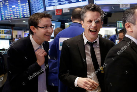 Aaron Levie, Dylan Smith Box, Inc. Chairman, CEO & co-founder Aaron Levie right, and company CFO and co-founder Dylan Smith, prepare to ring the New York Stock Exchange opening bell, marking their company's IPO on the floor of the New York Stock Exchange, . Box Inc. shares soared 56 percent in their stock market debut, after the online storage provider raised $175 million in its initial public offering