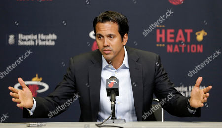 Erik Spoelstra Miami Heat head coach Erik Spoelstra pauses as he talks to reporters about the condition of Heat's forward Chris Bosh in Miami, . The All-Star forward's season is over, with the Heat announcing Saturday that, as suspected, blood clots were found on one of his lungs. The problem, if it had not been caught, could have killed the 30-year-old Bosh, who had been fighting pain in his side and back for several days
