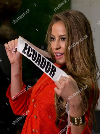 Stock Photo of Alejandra Argudo Miss Universe contestant Alejandra Argudo of Ecuador, poses for a photo after a news conference for contestants from Latin America and Spain, in Doral, Fla. The Miss Universe pageant will be held Jan. 25, in Miami