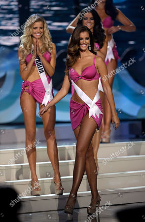 Desire Cordero Ferrer Miss Spain, Desire Cordero Ferrer, poses during the Miss Universe pageant in Miami