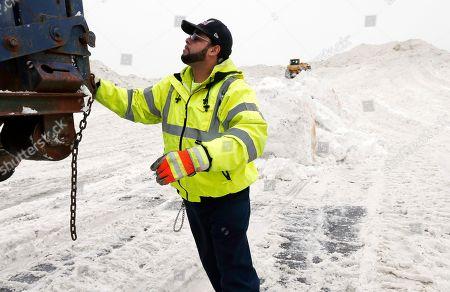 Editorial photo of New England Snow, Boston, USA