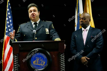 Anthony Campos, Ras Baraka Newark Police Department Chief Anthony Campos, left, speaks during a news conference talking about the city's initiatives aimed at providing oversight of the police department, in Newark, N.J. Standing next o the chief is Mayor Ras Baraka, who unveiled plans for a police civilian complaint review board. The board will have the power to investigate complaints against police officers. A three-year U.S. Justice Department investigation found Newark police engaged in the excessive use of force, routinely stopped people for no legitimate reason and regularly stole property