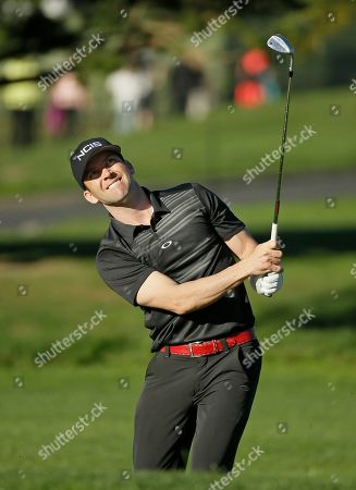 Stock Picture of Lucas Black Actor Lucas Black follows his shot onto the second green of the Pebble Beach Golf Links during the third round of the AT&T Pebble Beach National Pro-Am golf tournament, in Pebble Beach, Calif