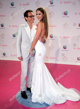Shannon De Lima, Marc Anthony Marc Anthony smiles at his wife Shannon De Lima as they arrive at the Premio Lo Nuestro Latin Music Awards show, in Miami, Fla