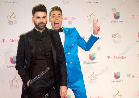 William Valdes, Jomari Goyso Cuban actor William Valdes, right, clowns around on the red carpet with Jomari Goyso as they arrive at the Premio Lo Nuestro Latin Music Awards show, in Miami, Fla