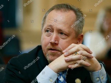 Stock Image of Jeffery Campbell Del. Jeffrey L. Campbell, R-Smyth, listens to the proceedings on the floor during the session of he Virginia House of Delegates at the Capitol in Richmond, Va., . Campbell is the sponsor of a bill that would raise the threshold of reckless driving from 80 mph to 85 mph