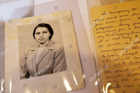 Rosa Parks In this shows a photograph of Rosa Parks circa the 1950's and a paper written by Parks about segregation are some of the items in the Rosa Parks archive, seen during a media preview at the Library of Congress, Madison Building in Washington. The family of civil rights activist Rosa Parks is thankful her memorabilia and personal items finally have a safe home. The items are on loan to the Library of Congress. They were purchased last year by a charitable foundation run by Howard Buffett, son of billionaire investor Warren Buffett