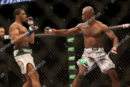 Uriah Hall, Ron Stallings Uriah Hall, right, in action against Ron Stallings during their fight at UFC Fight Night Boston, in Boston. Hall won via first round TKO