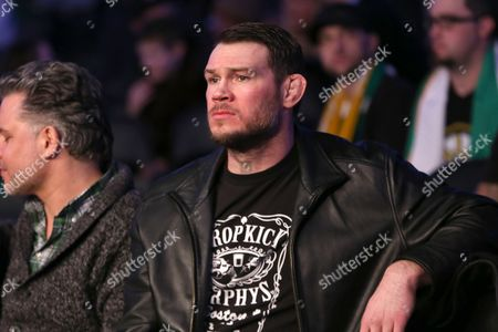 Stock Picture of Forrest Griffin Former UFC Champion Forrest Griffin is seen ringside at UFC Fight Night Boston, in Boston