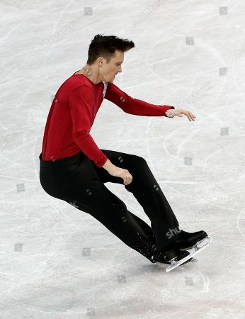 Stock Image of Jeremy Abbott Jeremy Abbott falls during his performance in the men's free skate program at the U.S. Figure Skating Championships in Greensboro, N.C