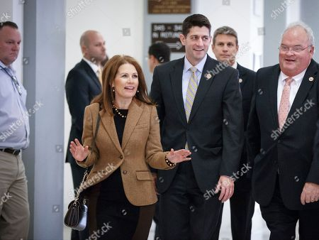 Michele Bachmann, Paul Ryan, Billy Long From, from left, Rep. Michele Bachmann, R-Minn., House Budget Committee Chairman Paul Ryan, R-Wisc., and Rep. Billy Long, R-Mo., walk together as House Republicans arrive to choose their leadership for the 114th Congress that convenes in January, on Capitol Hill in Washington. An audacious conservative, Rep. Michele Bachmann stood out from the moment she was first elected to Congress in 2006. Democrats were ascendant and Bachmann was a stridently Republican new arrival with a homespun Minnesota twang. Four terms later, Bachmann is leaving just as Republicans take control of Congress for the first time since she was first elected