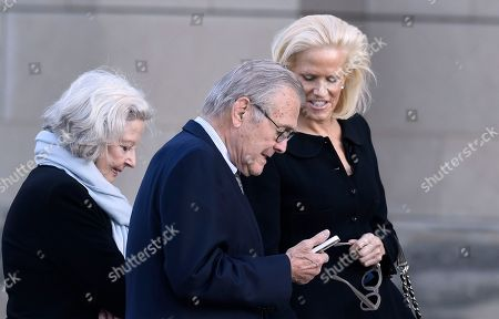 Donald Rumnsfeld, Joyce Rumsfeld Former Defense Secretary Donald Rumsfeld and his wife Joyce, left, arrives for the funeral service for Ben Bradlee at the National Cathedral in Washington, . Bradlee led The Washington Post during some of its biggest years and proudest moments