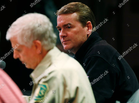 Michael Bennet U.S. Sen. Michael Bennet, D-Colo., listens during a crowded public hearing to hear comments on a proposed national monument in Browns Canyon in the town of Salida, Colo., in the state's southwestern mountains on . Bennet joined fellow U.S. Sen. Mark Udall, D-Colo., and federal land management officials at the hearing