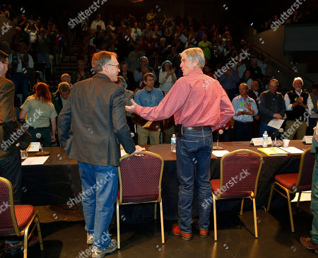 Mark Udall U.S. Sen. Mark Udall, D-Colo., center, is applauded before chairing a public hearing to hear comments on a proposed national monument in Browns Canyon in the town of Salida, Colo., in the state's southwestern mountains on