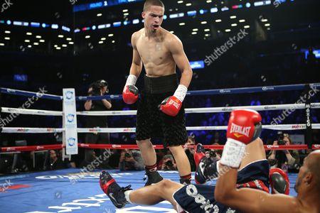 Zachary Ochoa, Jose Miguel Castro Zachary Ochoa knocks down Jose Miguel Castro during their fight at the Barclay's Center in Brooklyn, N.Y. on . Ochoa won via decision