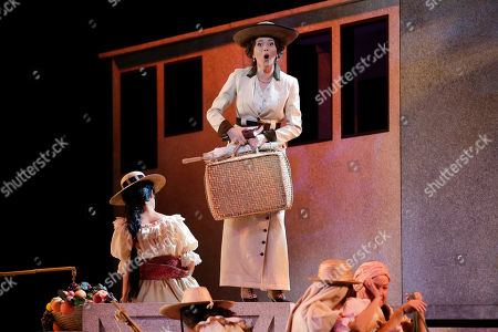 """Lisette Oropesa Cuban-American soprano Lisette Oropesa as Rosalba performs during a rehearsal for the Spanish-language opera, """"Florencia en el Amazonas,"""" at the Dorothy Chandler Pavilion, in Los Angeles"""