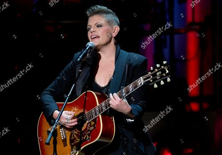 Natalie Maines Lead singer Natalie Maines of the Dixie Chicks performs during a tribute concert to Billy Joel, the recipient of the Library of Congress Gershwin Prize for Popular Song, at DAR Constitution Hall in Washington
