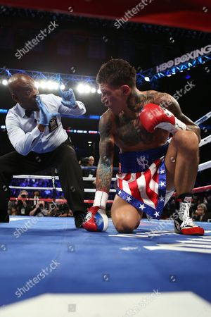Gabriel Rosado Gabriel Rosado receives a count after getting knocked down against David Lemieux during their middleweight fight at the Barclay's Center in Brooklyn, NY on . Lemieux won via 10th round TKO
