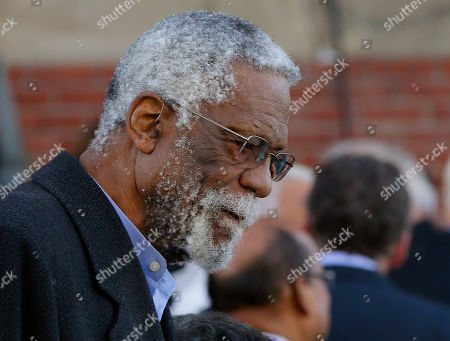 Bill Russell Former Boston Celtic great Bill Russell leaves the church after the funeral Mass for former Boston Mayor Tom Menino at Most Precious Blood Catholic Church in Boston, MA