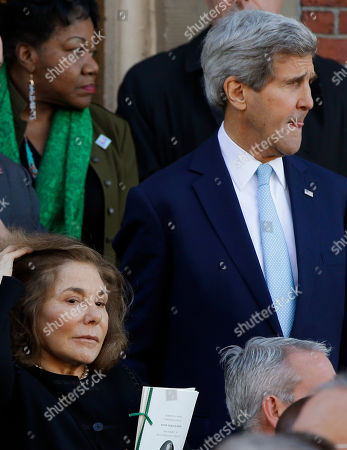 Teresa Heinz Kerry, John Kerry Teresa Heinz Kerry, left, walks with her husband, Secretary of State John Kerry, as they leave the church after the funeral Mass for former Boston Mayor Tom Menino at Most Precious Blood Catholic Church in Boston, MA