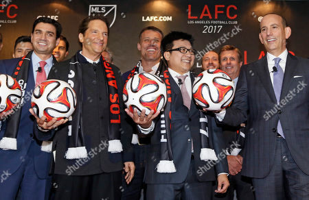 Don Garber, Tom Penn, Peter Guber, Henry Nguyen Major League Soccer announces the details of the league's plan to launch a second team in the Los Angeles area after shutting down Chivas USA, at a news conference in Los Angeles . From left front, are: ownership group members Tom Penn, Peter Guber and Henry Nguyen, and MLS commissioner Don Garber. The new team, the Los Angeles Football Club, will begin play in 2017 with strong owners and plans for a soccer-specific stadium