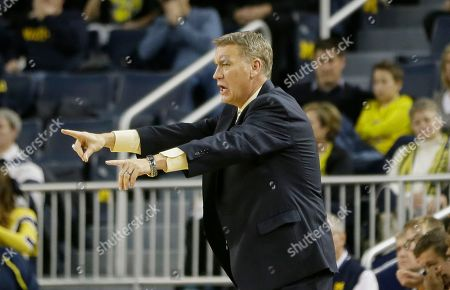 Jeff Meyer Michigan assistant coach Jeff Meyer signals from the sidelines during the first half of an NCAA college basketball game against Nicholls State in Ann Arbor, Mich