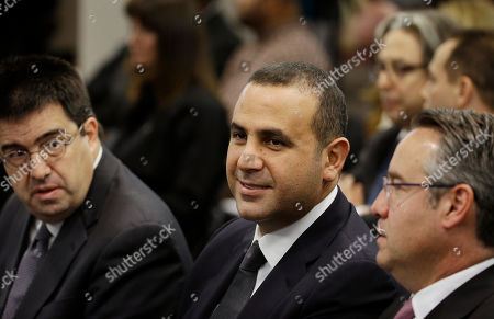 Sam Nazarian Sam Nazarian, center, attends a meeting of the Nevada Gaming Commission, in Las Vegas. Nazarian, a 10 percent owner of the SLS Las Vegas hotel and casino, appeared before the commission seeking a gaming license