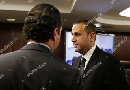 Sam Nazarian Sam Nazarian leaves a meeting of the Nevada Gaming Commission, in Las Vegas. Nazarian, a 10 percent owner of the SLS Las Vegas hotel and casino, appeared before the commission seeking a gaming license