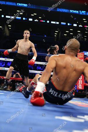Zachary Ochoa Zachary Ochoa knocks down Jose Miguel Castro during their fight at the Barclay's Center in Brooklyn, NY on . Ochoa won via decision
