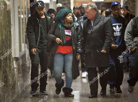 Bobby Shmurda Leslie Pollard, second from left, leaves a court hearing for her son Ackquille Pollard, also known as Bobby Shmurda, in New York. A judge has set bail at $2 million for the Brooklyn rapper Shmurda, 20, on gun and narcotic charges. Pollard says she expects her son will make bail and prove his innocence