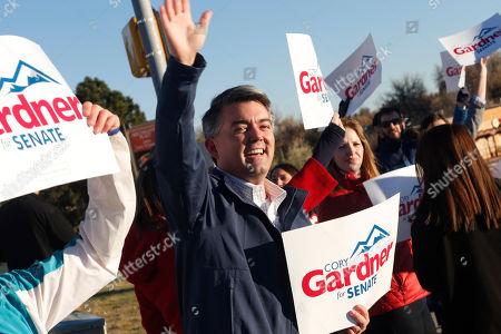 Cory Gardner Cory Gardner, Republican candidate for the U.S. Senate seat in Colorado, joins supporters in waving placards on corner of major intersection in south Denver suburb of Centennial, Colo., early on . Gardner is facing Democratic incumbent U.S. Sen. Mark Udall in a pitched battle for the seat