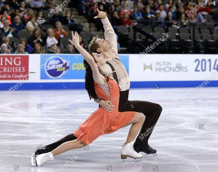 Nicole Orford, Thomas Williams Nicole Orford and Thomas Williams of Canada, compete in the ice dance free dance at the Skate America figure skating event, in Hoffman Estates, Ill