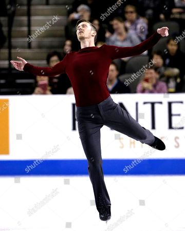 Jeremy Abbott Jeremy Abbott of the United States, competes in the men's free skating at the Skate America figure skating event, in Hoffman Estates, Ill