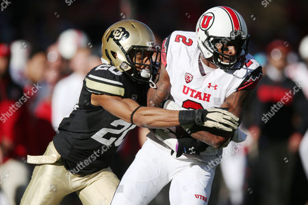 Greg Henderson, Kenneth Scott Colorado defensive back Greg Henderson, left, tackles Utah wide receiver Kenneth Scott after he pulled in a pass in the third quarter of Utah's 38-34 victory in an NCAA college football game in Boulder, Colo., on