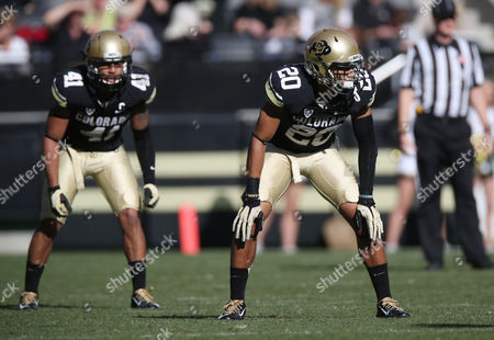 Stock Picture of Greg Henderson Colorado defensive back Greg Henderson sets for play against Utah in the second quarter of an NCAA college football game in Boulder, Colo., on