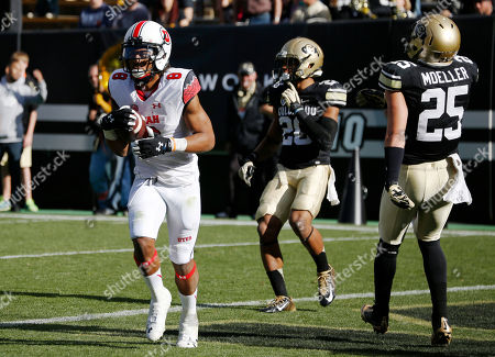 Kaelin Clay, Greg Henderson, Ryan Moeller Utah wide receiver Kaelin Clay, left, pulls in pass for touchdown in fornt of Colorado defensive backs Greg Henderson, center, and Ryan Moeller in the second quarter of an NCAA college football game in Boulder, Colo., on