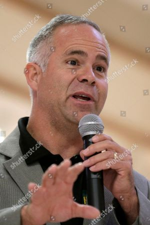 Stock Image of Tim Huelskamp Rep. Tim Huelskamp, R-Kansas, speaks in Dodge City, Kansas. No government shutdown this year, Republican congressional leaders say. But with Congress, it's never easy. Conservatives are demanding a cutoff of Planned Parenthood's federal funds as their price for keeping agencies functioning beyond Sept. 30. A look at what's complicating the effort to avoid a shutdown