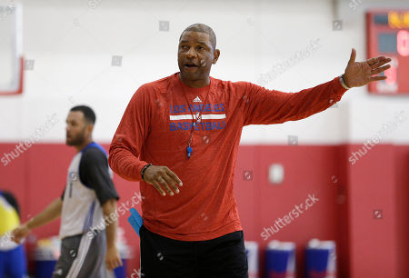 Doc Rivers Los Angeles Clippers' head coach Doc Rivers coaches his players during practice at training camp, in Las Vegas