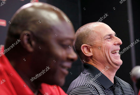 Chip Hale, Dave Stewart New Arizona Diamondbacks baseball team manager Chip Hale, right, laughs along with general manager Dave Stewart, left, as Stewart talks about their playing days during a news conference where Hale was introduced as the manager, in Phoenix. The former Diamondbacks third base coach was hired Monday to replace fired Kirk Gibson as the Diamondbacks manager. The 49-year-old managed in Arizona's minor league system for six seasons and was with the Diamondbacks from 2007-09 in the first of eight consecutive seasons as a big league third base coach