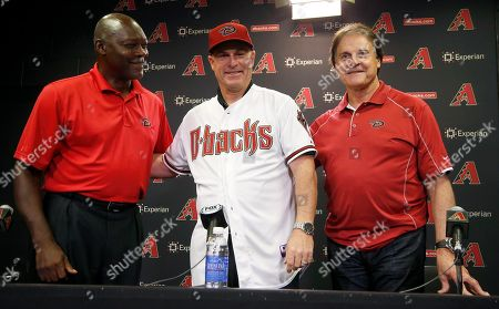 Chip Hale, Dave Stewart, Tony LaRussa New Arizona Diamondbacks baseball team manager Chip Hale, middle, smiles as he is flanked by general manager Dave Stewart, left, and chief baseball officer Tony LaRussa during a news conference, in Phoenix. The former Diamondbacks third base coach was hired Monday to replace fired Kirk Gibson as the Diamondbacks manager. The 49-year-old managed in Arizona's minor league system for six seasons and was with the Diamondbacks from 2007-09 in the first of eight consecutive seasons as a big league third base coach